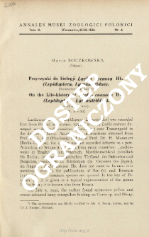 On the Life-history of Laelia coenosa Hb. (Lepidoptera, Lymantriidae) : preliminary note