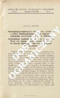 Desmophrya contorta gen. nov., sp. nov., ein im Darm von Pisidium parasitierender Ciliate aus der familie Hoplitophryidae Cheissin (Infusoria, Astomata)