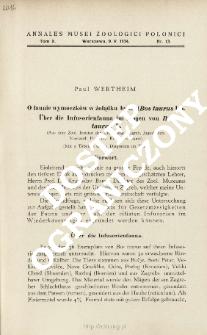 Über die Infusorienfauna im Magen von Bos taurus L. : (Aus dem Zool. Institut der Universität Zagreg, Jugoslavien. Vorstand: Prof. Dr. Krunoslav Babić)