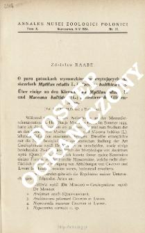 Über einige an den Kiemen von Mytilus edulis L. und Macoma balthica (L.) parasitierende Ciliaten-Arten