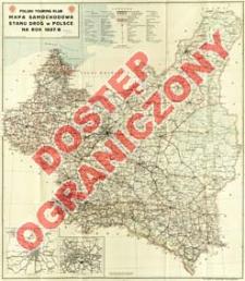 Mapa samochodowa i stanu dróg w Polsce na rok 1937/38 : z marszrutami
