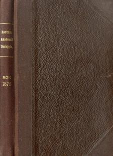 Rocznik Zarządu Akademii Umiejętności w Krakowie R. 1875 (1876)