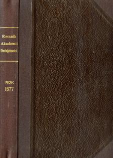 Rocznik Zarządu Akademii Umiejętności w Krakowie R. 1877 (1878)
