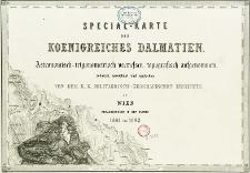 Special-Karte des Koenigreiches Dalmatien