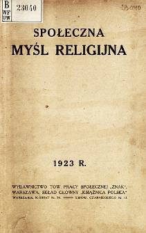Społeczna myśl religijna