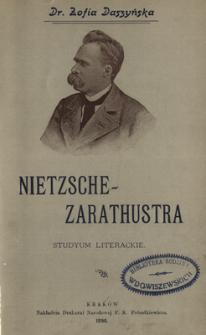 Nietzsche - Zarathustra : studyum literackie