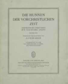 Chinesische Urkunden zur Geschichte Asiens. Tl. 1, Die Hunnen der vorchristlichen Zeit