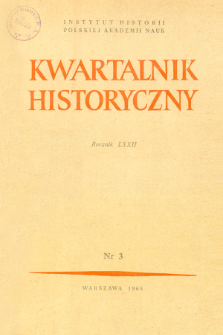 Kwartalnik Historyczny R. 72 nr 3 (1965), Title pages, Contents