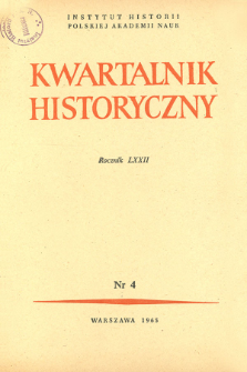 Kwartalnik Historyczny R. 72 nr 4 (1965), Title pages, Contents