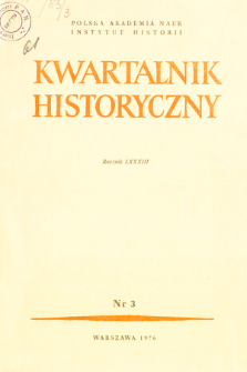 Kwartalnik Historyczny. R. 83 nr 3 (1976), Title pages, Contents