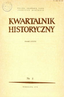 Kwartalnik Historyczny R. 86 nr 2 (1979), Title pages, Contents