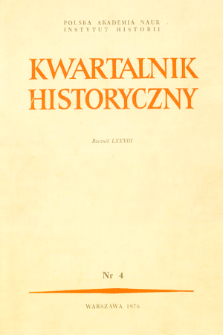 Kwartalnik Historyczny. R. 83 nr 4 (1976), Title pages, Contents