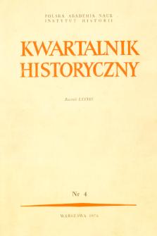 Kwartalnik Historyczny. R. 83 nr 4 (1976), Strony tytułowe, Spis treści
