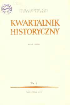 Kwartalnik Historyczny R. 84 nr 1 (1977), Title pages, Contents