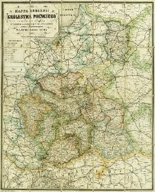 Mappa guberni Królestwa Polskiego z oznaczeniem odległości na drogach żelaznych, bitych, i zwyczajnych