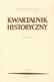 Kwartalnik Historyczny R. 85 nr 4 (1978), Title pages, Contents