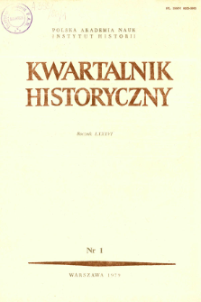 Kwartalnik Historyczny R. 86 nr 1 (1979), Title pages, Contents