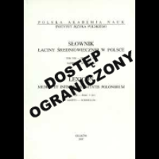 Słownik łaciny średniowiecznej w Polsce. T. 8 z. 5 (67), Sagitto - Scriniolum