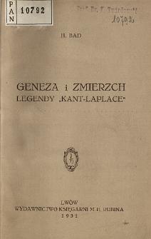 """Geneza i zmierzch legendy """"Kant-Laplace"""""""