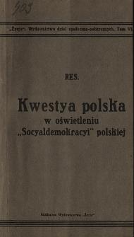 """Kwestya polska w oświetleniu """"Socyaldemokracyi"""" polskiej"""