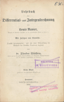 Lehrbuch der Differential - und Integralrechnung. Bd. 1