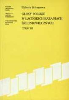 Glosy polskie w łacińskich kazaniach średniowiecznych. Cz. 3
