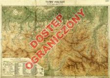 Tatry Polskie : mapa środkowej części Tatr