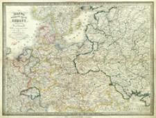 Mappa środkowych krajów Europy : z oznaczeniem dróg żelaznych podług najlepszych źródeł