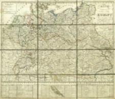 Mappa obeymuiąca środkowe kraje Europy : ułożona dla użytku szkół podług naylepszych źródeł w Warszawie