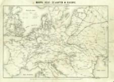 Mappa kolei żelaznych w Europie : według najświeższych dat statystycznych