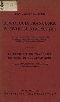 Rewolucja Francuska w świetle statystyki