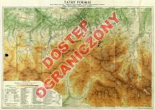 Tatry Polskie : mapa środkowej części Tatr w podziałce 1:37 500