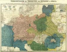 Übersichtskarte der Verbreitung der Deutschen in Europa : Für der deutschen Schulverein