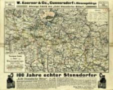 Touristen-Karte vom Iser- und Riesengebirge : Maßstab 1:150 000