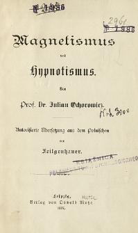 Magnetismus und hypnotismus