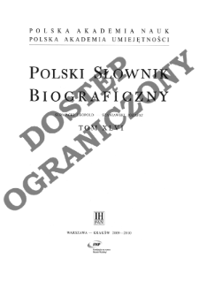 Polski słownik biograficzny T. 46 (2009-2010), Surmacki Leopold - Szaniawski Jozafat (Józefat) Konstanty