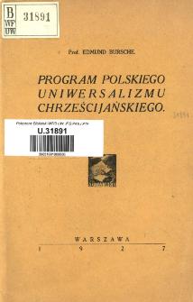 Program polskiego uniwersalizmu chrześcijańskiego