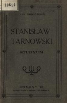 Stanisław Tarnowski : studyum