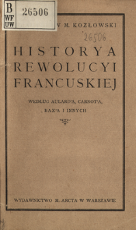 Historya rewolucyi francuskiej