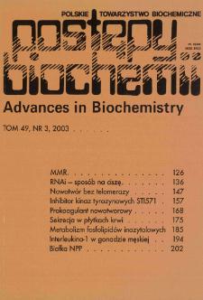 Postępy biochemii, Tom 49, Nr 3