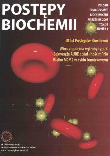 Postępy biochemii, Tom 51, Nr 1