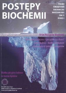 Postępy biochemii, Tom 51, Nr 4