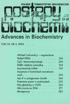 Postępy biochemii, Tom 50, Nr 4