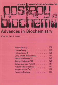 Postępy biochemii, Tom 46, Nr 2