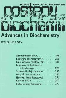 Postępy biochemii, Tom 50, Nr 3