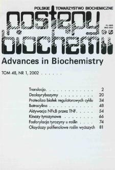 Postępy biochemii, Tom 48, Nr 1