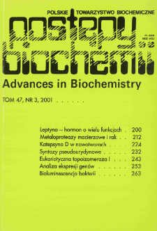 Postępy biochemii, Tom 47, Nr 3