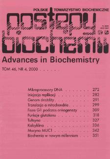 Postępy biochemii, Tom 46, Nr 4