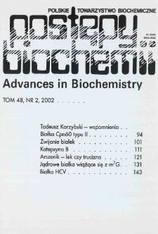 Postępy biochemii, Tom 48, Nr 2