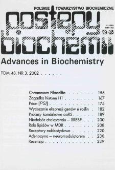 Postępy biochemii, Tom 48, Nr 3